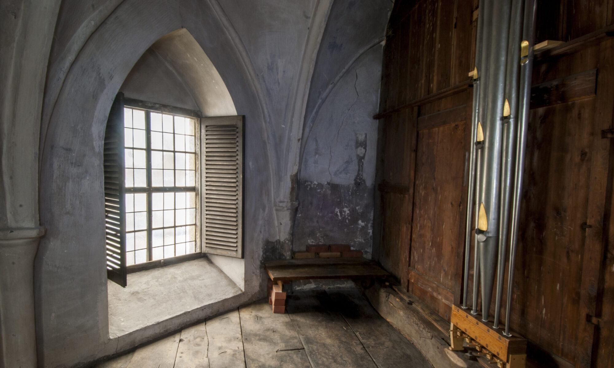 Historische Kalkantenstube der St.-Georgs-Kirche Hattingen